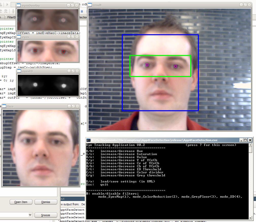 Eyes tracking