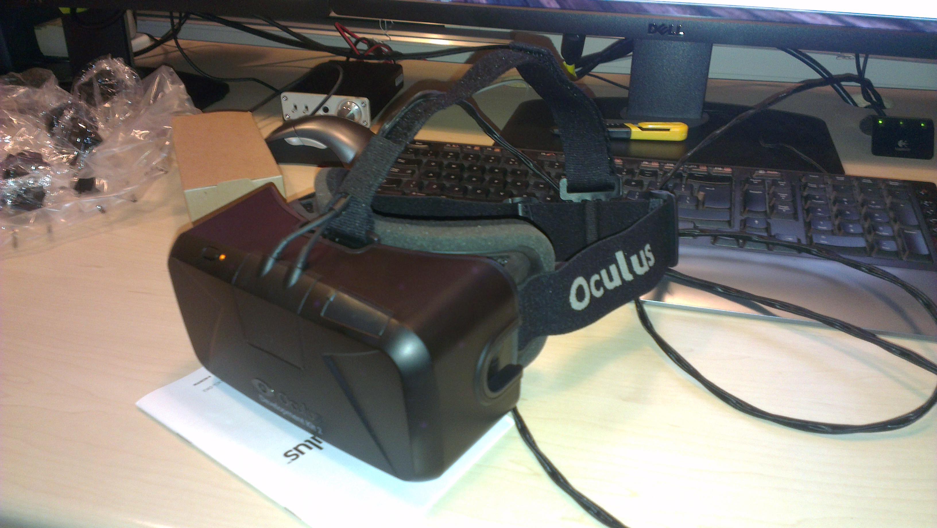 The Oculus Rift DK2.